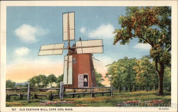 Old Eastham Mill Cape Cod Massachusetts
