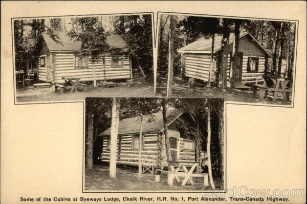 Some of the Cabins at Byeways Lodge, Chalk River, R.R. No. 1, Port Alexander, Trans-Canada Highway