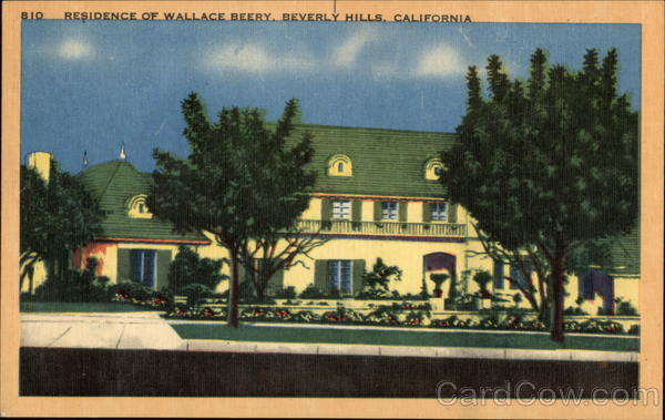 Residence of Wallace Berry Beverly Hills California