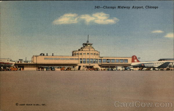 Chicago Midway Airport - The Largest Airport in Traffic Volume in the US Illinois