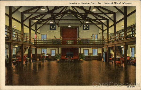 Interior of Service Club Fort Leonard Wood Missouri
