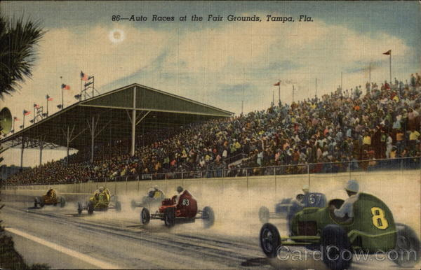 Auto Races at the Fair Grounds Tampa Florida