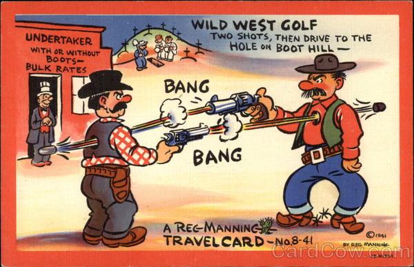 Wild west golf comic funny - Wild west funny ...