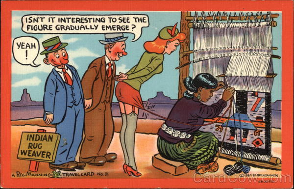 Indian Rug Weaver Comic, Funny