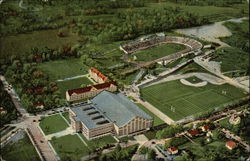 Aerial View of Athletic Department of Purdue University
