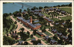 The Army Service Schools and Staff College - showing Riverside Drive, North Bridge and River