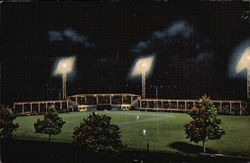 A View of the Armco Baseball Field at Night