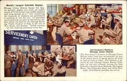 Union Station - Servicemen's Canteen and USO Lounge Postcard