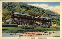 Grand View Nite Club at the Grandview Lodge Postcard
