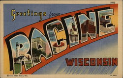 Greetings from Racine, Wisconsin Postcard