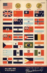Flags of the US Military and United Nations