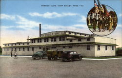 Service Club at Camp Shelby Postcard