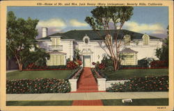 Home of Mr. & Mrs Jack Benny (Mary Livingstone)