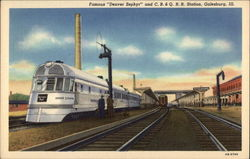 A Denver Zephyr Stops at the C.B. & Q. Railroad Station