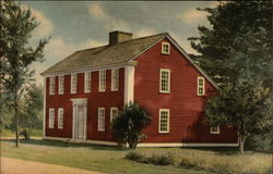 Saltbox House - Old Sturbridge Village Postcard
