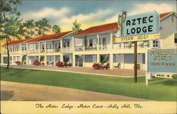 The Aztec Lodge - Motor Court Postcard