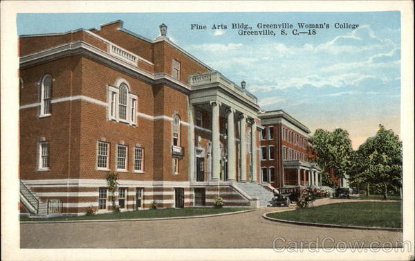 Fine Arts Building, Greenville Woman's College South Carolina