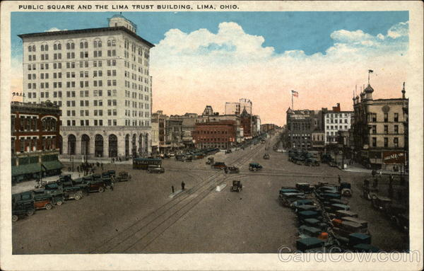 Public Square and the Lima Trust Building Ohio