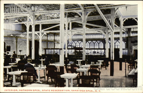 Interior, Hathorn Springs, State Reservation Saratoga Springs New York