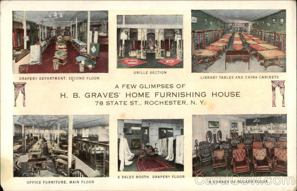 A Few Glimpses of HB Graves Home Furnishing House Rochester New York