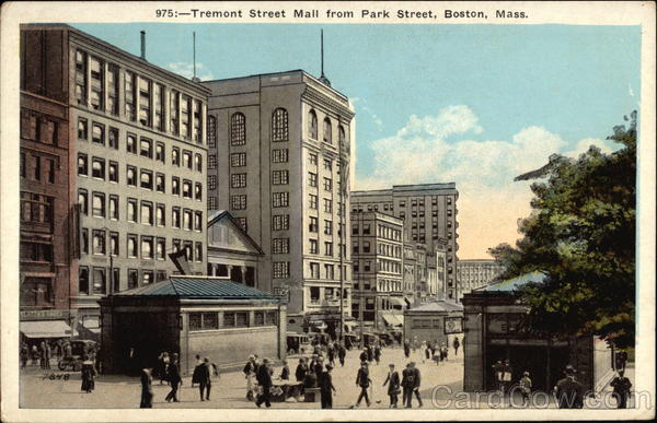 Tremont Street Mall from Par Street Boston Massachusetts