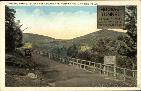 Hoosic Tunner is 1060 Feet Below the Mohawk Trail at This Point Massachusetts