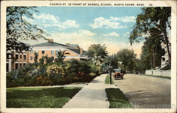 Church Street in front of Normal School North Adams Massachusetts