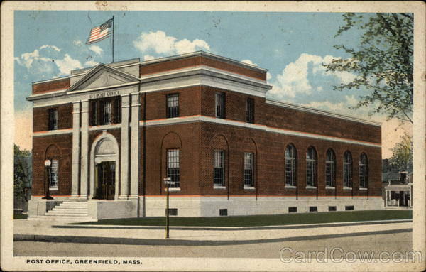 Post Office Greenfield Massachusetts