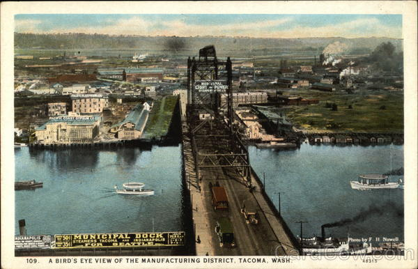 A Bird's Eye View of the Manufacturing District Tacoma Washington