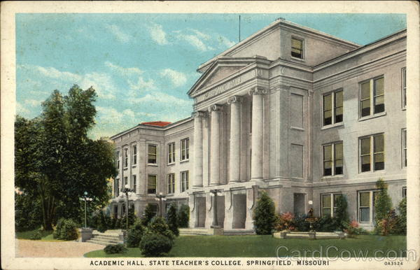 Academic Hall, State Teacher's College Springfield Michigan