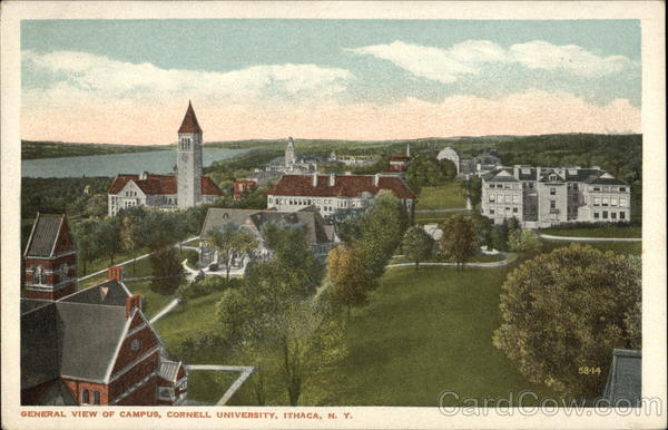 General View of Campus, Cornell University Ithaca New York