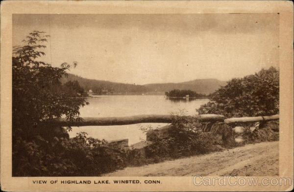 View of Highland Lake Winsted Connecticut