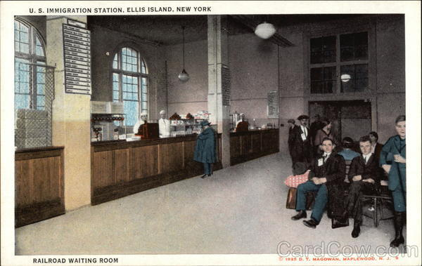 U. S. Immigration Station, Ellis Island, Railroad Waiting Room New York City