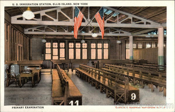 Primary Examination, US Immigration Station Ellis Island New York