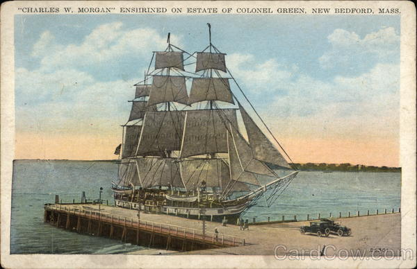 Charles W. Morgan Enshrined on Estate of Colonel Green New Bedford Massachusetts