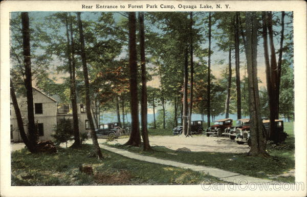 Rear Entrance to Forest Park Camp Oquaga Lake New York