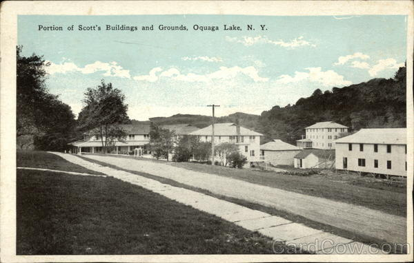 Portion of Scott's Buildings and Grounds Oquaga Lake New York