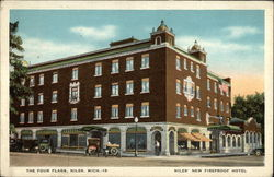 The Four Flags, Niles' New Fireproof Hotel Postcard