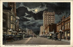 Tryon Street, Looking South by Night