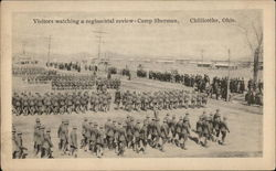 Visitors watching a Regimental Review at Camp Sherman