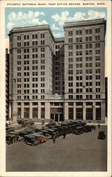 Atlantic National Bank, Post Office Square Postcard
