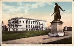 Colonel William Prescott Statue and Charlestown High School