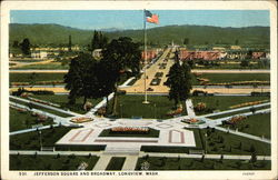 Jefferson Square and Broadway Postcard