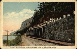 Viaduct on Columbia River Highway East of Multnomah Falls Postcard