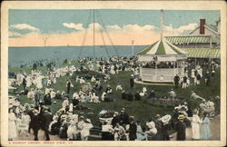 A Sunday Crowd Postcard