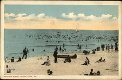 Bathing Scene Postcard