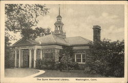 The Gunn Memorial Library Postcard