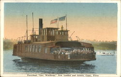 Ferryboat Gov. Winthrop, New London and Groton, Conn. Ferry