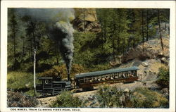 Cog Wheel Train Climbing Pikes Peak