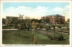 Campus Scene, Kansas State Teachers College